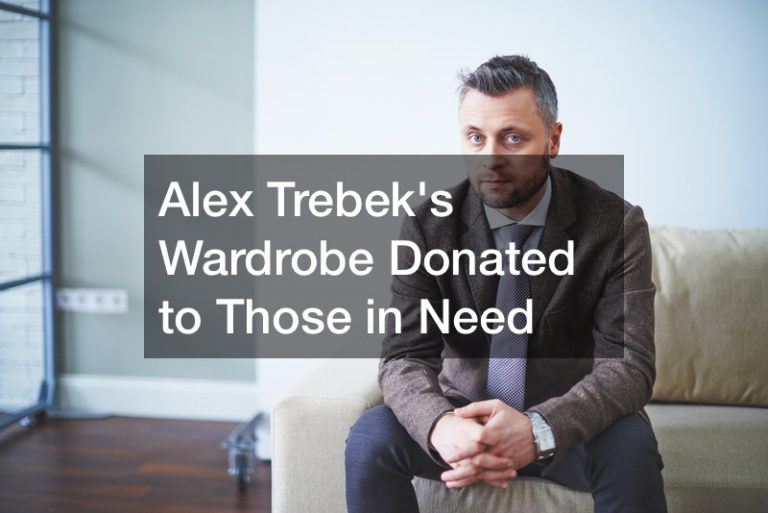 Alex Trebek's Wardrobe Donated to Those in Need